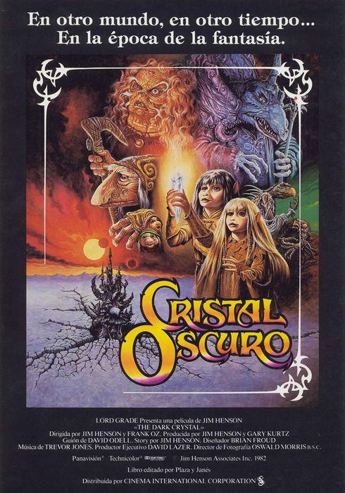 Cartel oficial en español de: Cristal oscuro