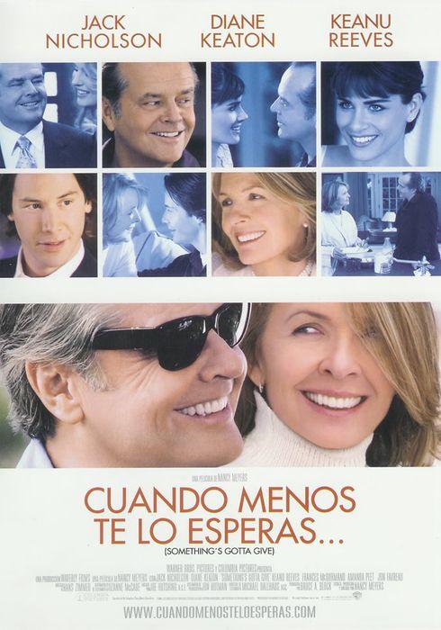 Cartel oficial en español de: Cuando menos te lo esperas