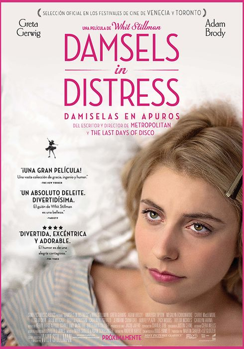 Cartel oficial en español de: Damsels in Distress (Damiselas en apuros)