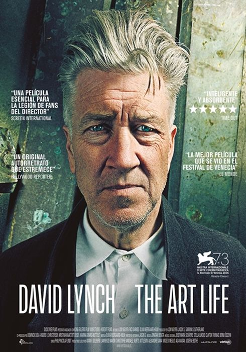 Cartel oficial en español de: David Lynch: The Art Life