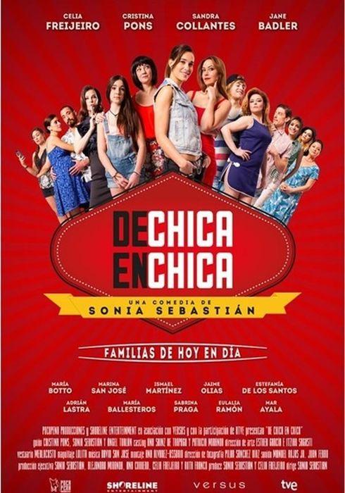 Cartel oficial en español de: De chica en chica