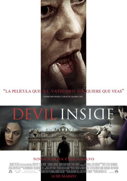 Cartel oficial en español de: Devil Inside