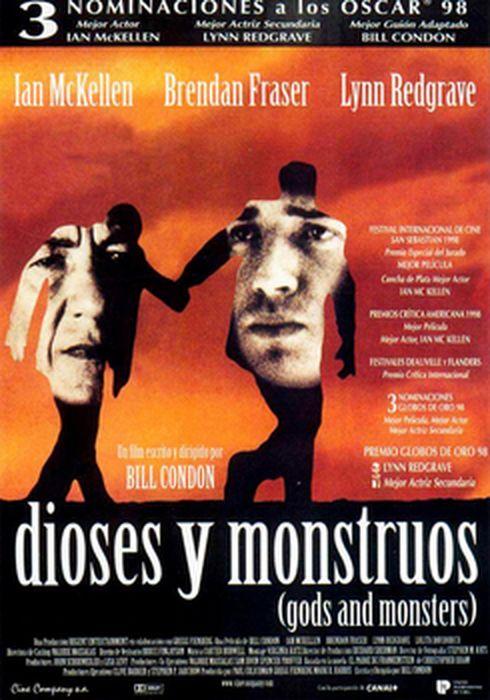 Cartel oficial en español de: Dioses y monstruos