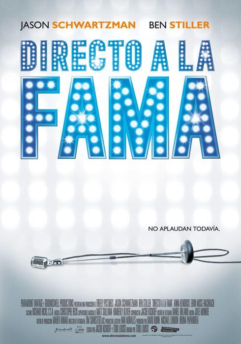 Cartel oficial en español de: Directo a la fama