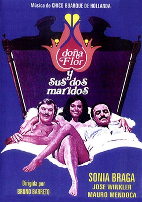 Cartel oficial en español de: Doña Flor y sus dos maridos