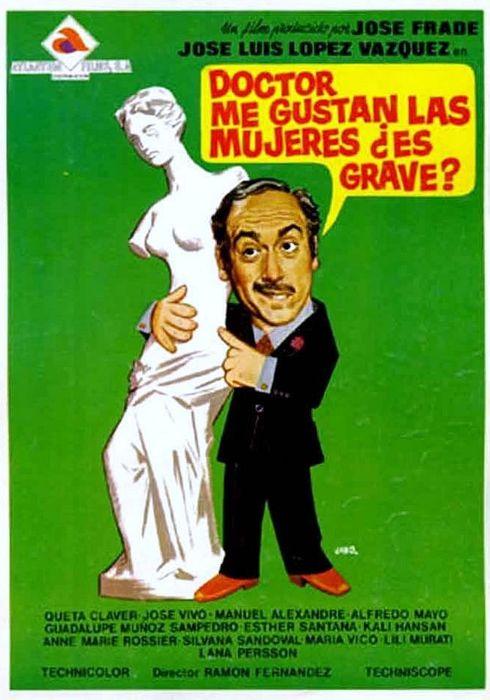 Cartel oficial en español de: Doctor, me gustan las mujeres, ¿es grave?