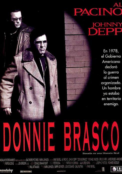 Cartel oficial en español de: Donnie Brasco