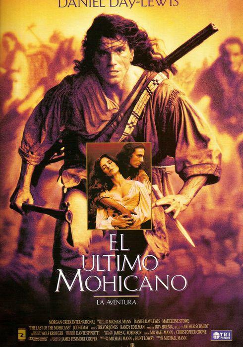 Cartel oficial en español de: El último mohicano