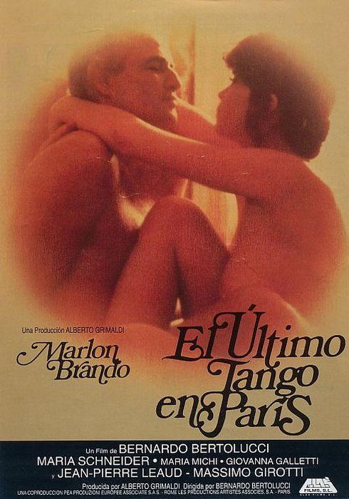 Cartel oficial en español de: El último tango en París