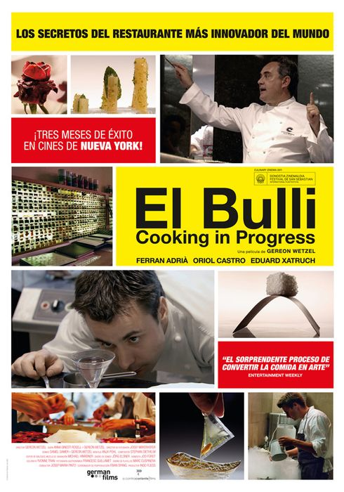 Cartel oficial en español de: El Bulli: Cooking in Progress