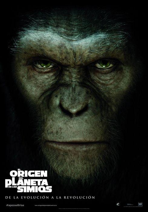 Cartel oficial en español de: El origen del planeta de los simios