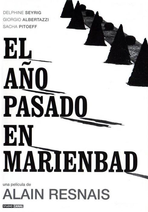 Cartel oficial en español de: El año pasado en Marienbad