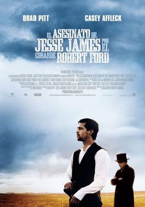Cartel oficial en español de: El asesinato de Jesse James por el cobarde Robert Ford