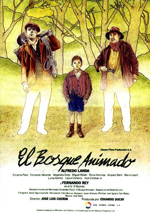 Cartel oficial en español de: El bosque animado