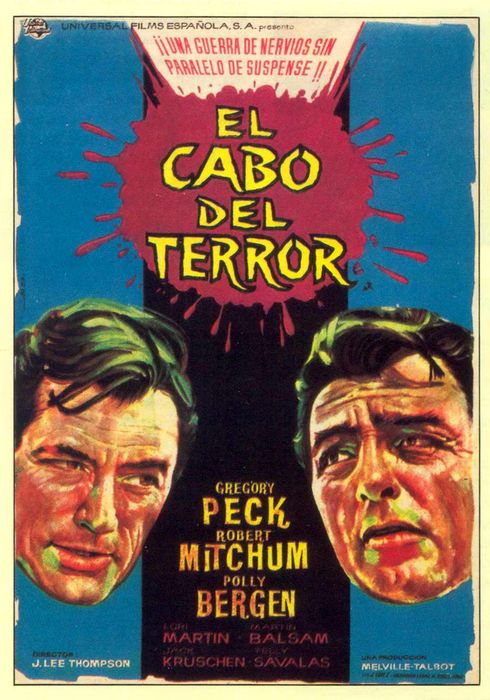 Cartel oficial en español de: El cabo del terror
