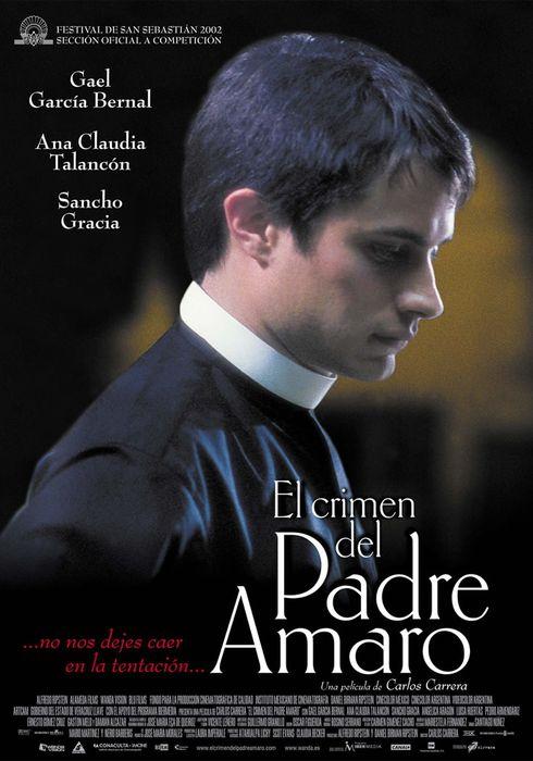 Cartel oficial en español de: El crimen del padre Amaro
