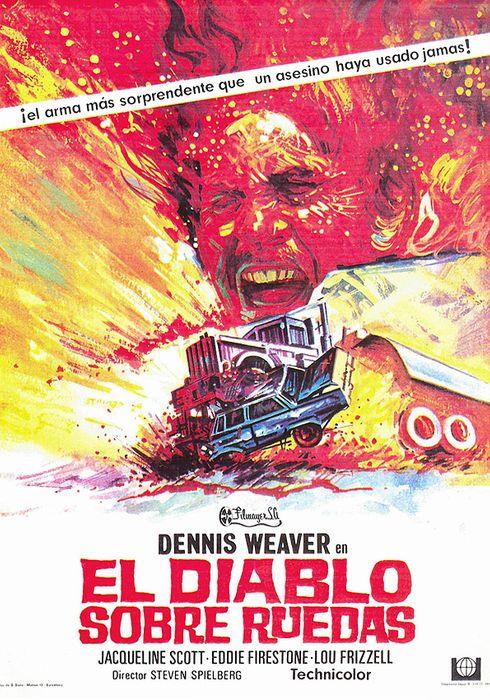 Cartel oficial en español de: El diablo sobre ruedas