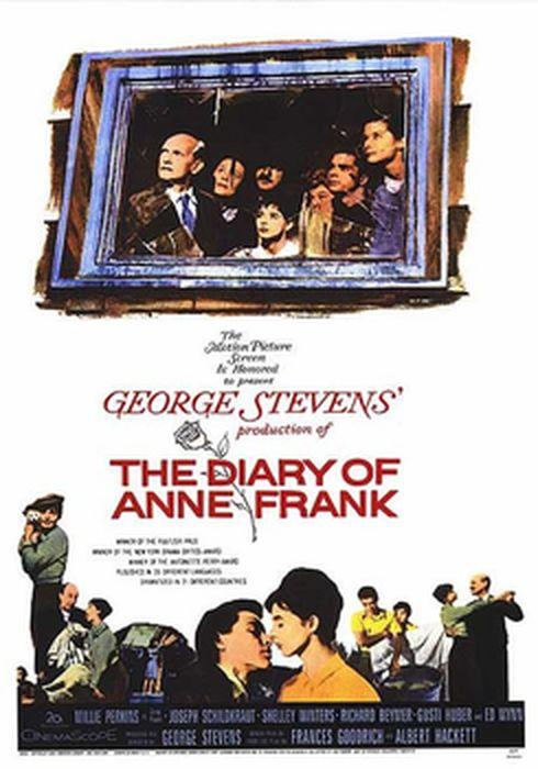 Cartel oficial en español de: El diario de Ana Frank