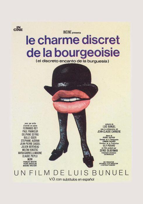 Cartel oficial en español de: El discreto encanto de la burguesía