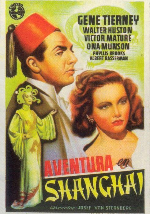 Cartel oficial en español de: El embrujo de Shanghai (1941)