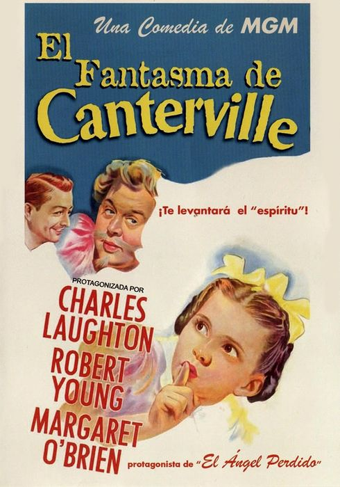 Cartel oficial en español de: El fantasma de Canterville
