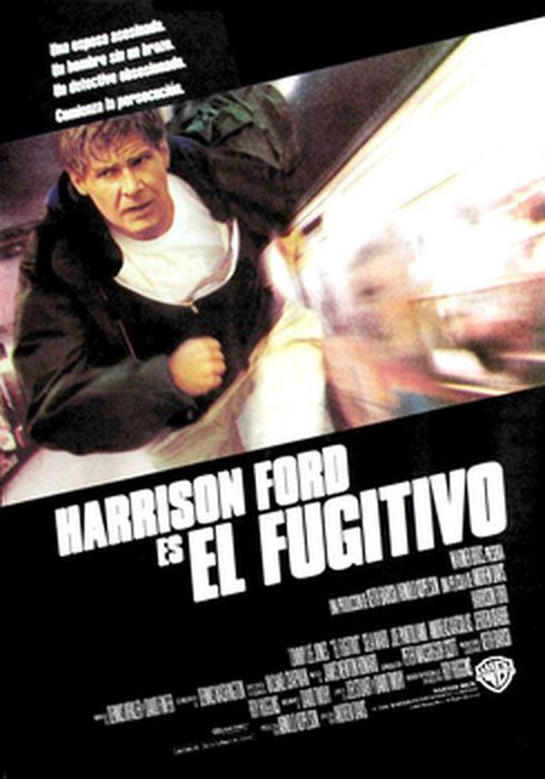 Cartel oficial en español de: El fugitivo