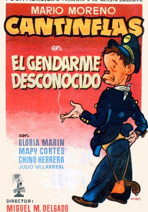 Cartel oficial en español de: El gendarme desconocido