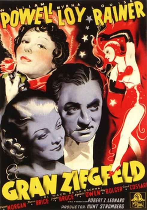 Cartel oficial en español de: El gran Ziegfeld
