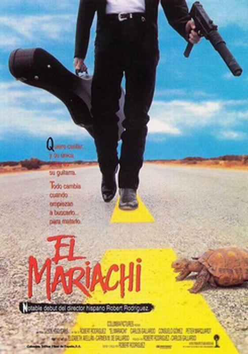 Cartel oficial en español de: El mariachi