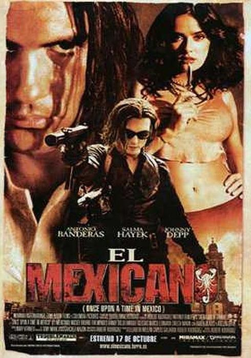 Cartel oficial en español de: El mexicano (Once upon a time in Mexico)