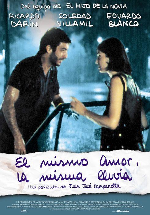 Cartel oficial en español de: El mismo amor, la misma lluvia