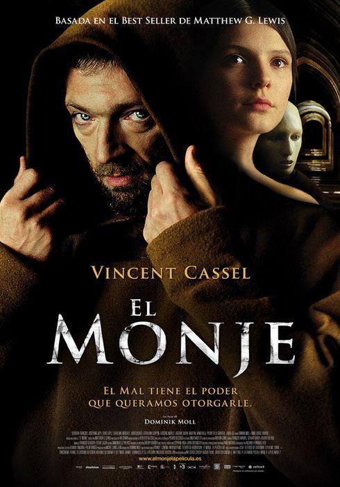 Cartel oficial en español de: El monje