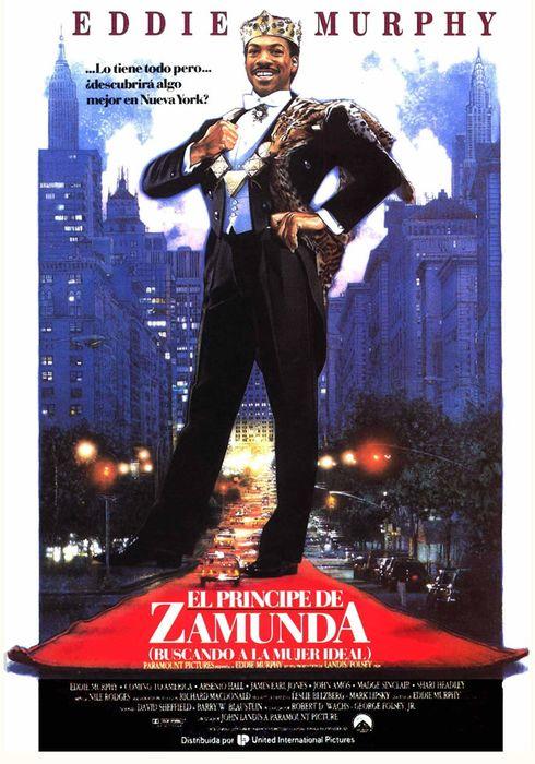 Cartel oficial en español de: El príncipe de Zamunda