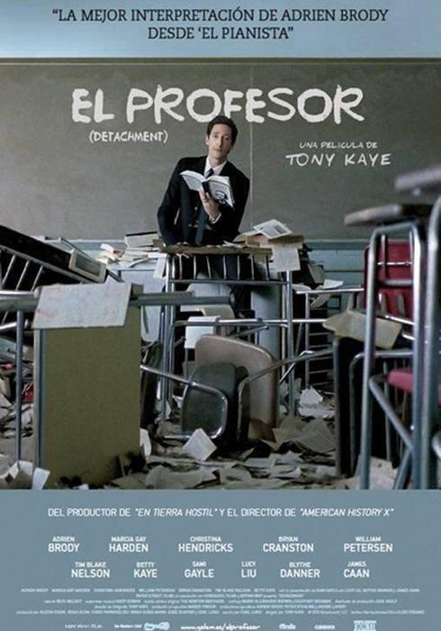 Cartel oficial en español de: El profesor (Detachment)