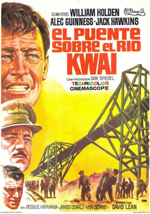 Cartel oficial en español de: El puente sobre el río Kwai