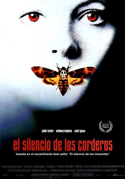 Cartel oficial en español de: El silencio de los corderos