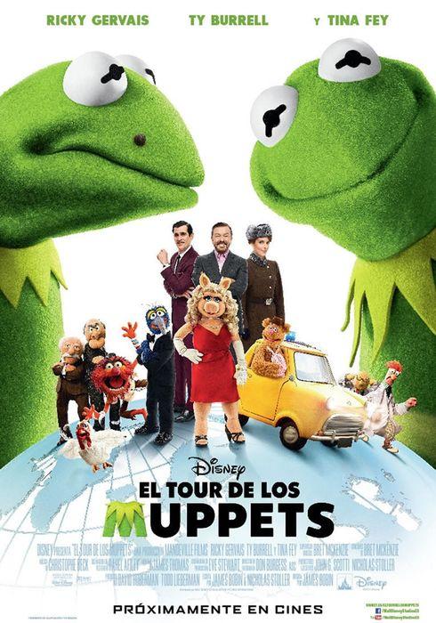 Cartel oficial en español de: El tour de los Muppets