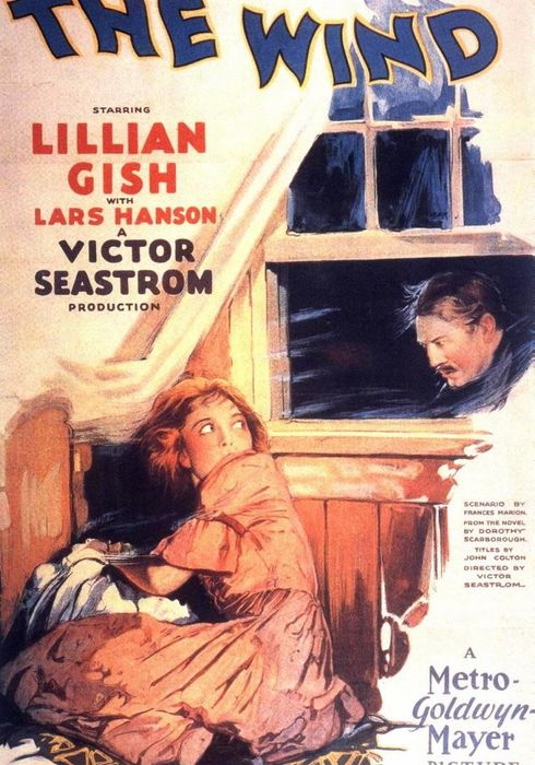 Cartel oficial en español de: El viento (1928)