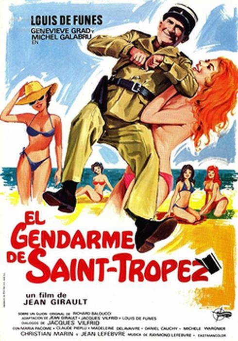Cartel oficial en español de: El gendarme de Saint-Tropez