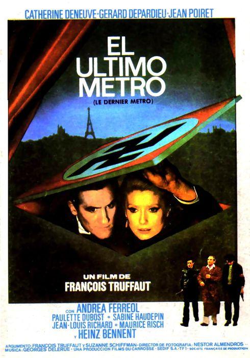 Cartel oficial en español de: El último metro