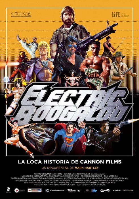 Cartel oficial en español de: Electric Boogaloo: La loca historia de Cannon Films