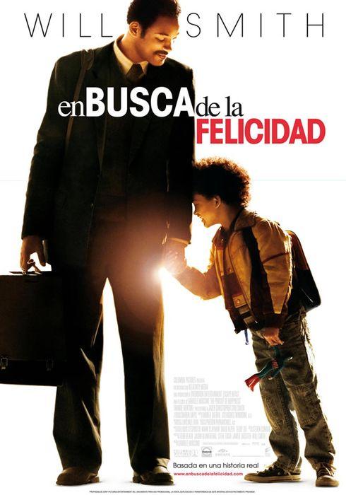 Cartel oficial en español de: En busca de la felicidad