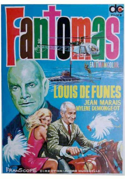 Cartel oficial en español de: Fantomas
