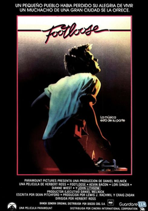 Cartel oficial en español de: Footloose