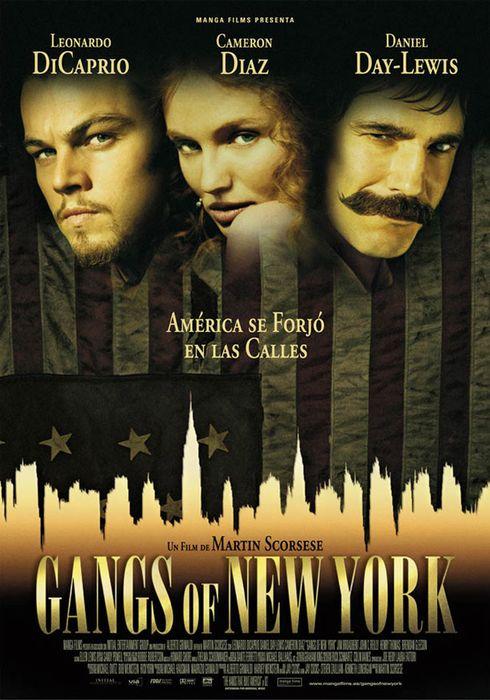 Cartel oficial en español de: Gangs of New York
