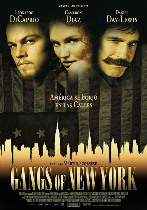 Cartel oficial en español de: Gangs of New York