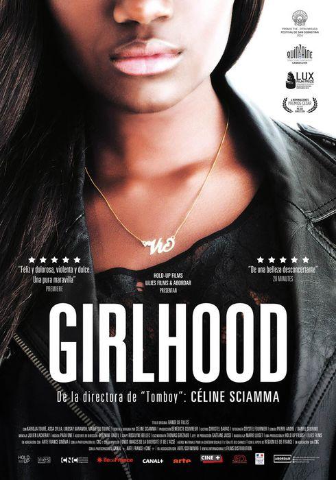 Cartel oficial en español de: Girlhood
