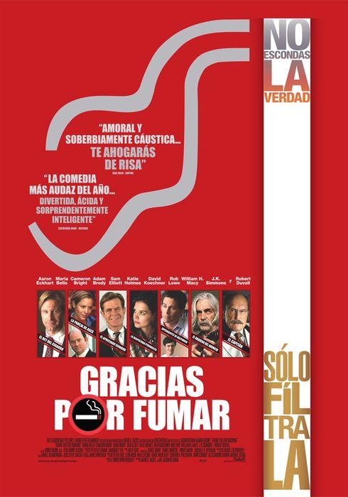 Cartel oficial en español de: Gracias por fumar