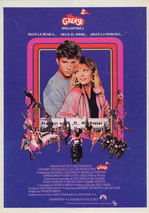 Cartel oficial en español de: Grease 2