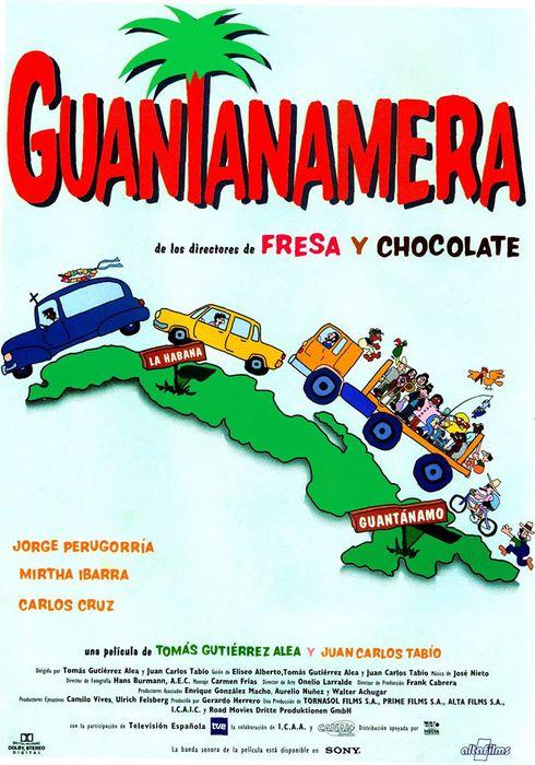Cartel oficial en español de: Guantanamera